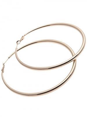 Серьги-кольца (диаметр 8см.) City Flash. Цвет: золотистый