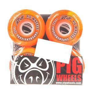 Колеса для скейтборда лонгборда  Supercruiser New Orange 88A 70 mm Pig. Цвет: оранжевый