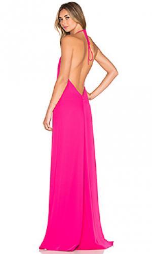 Вечернее платье холтер JILL STUART. Цвет: розовый