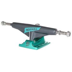 Подвески для скейтборда 1шт.  Alum Lo Flick Gunmetal/Mint 5 (19.7 см) Tensor. Цвет: серый,зеленый