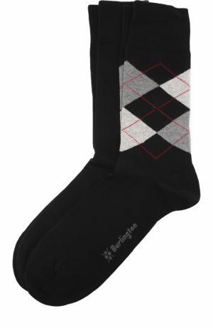 Комплект из двух пар хлопковых носков Burlington. Цвет: черный