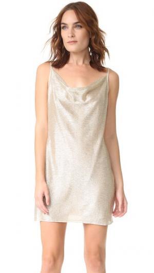 Мини-платье Bowie Amanda Uprichard. Цвет: шампанское