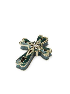 Крест - шкатулка Holy Land Collections. Цвет: зеленый