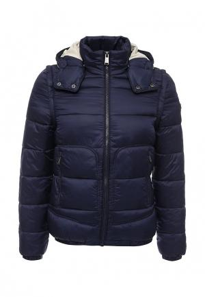 Куртка утепленная Guess Jeans. Цвет: синий