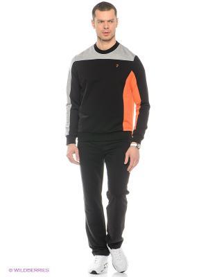 Спортивный костюм RED-N-ROCK'S. Цвет: черный, серый меланж, светло-оранжевый