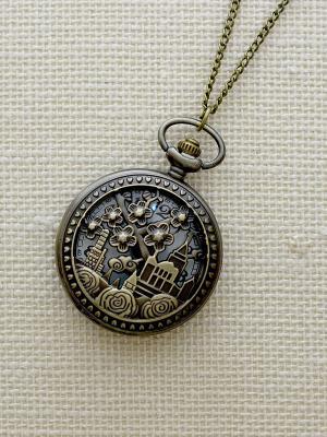 Кулон-часы Изумрудный город (большой) Mitya Veselkov. Цвет: бронзовый