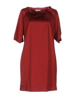 Короткое платье ROBERTA SCARPA. Цвет: красный