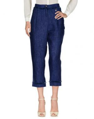 Повседневные брюки MARIA GRAZIA SEVERI. Цвет: синий