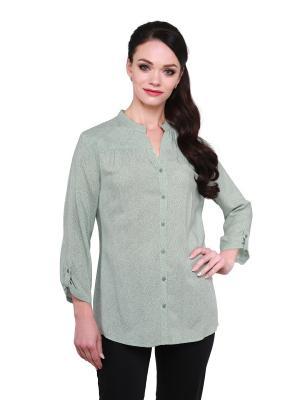 Блузка BLAUZ. Цвет: черный, светло-зеленый