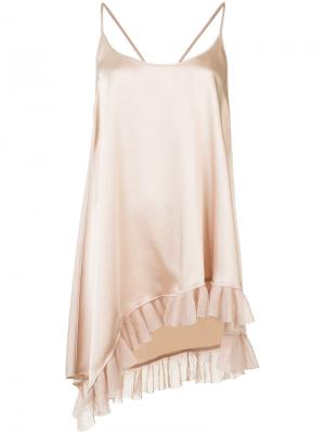Ruffled asymmetric hem cami Elizabeth And James. Цвет: телесный