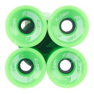 Колеса для скейтборда лонгборда  Longboard Wheels Green 78A 69 mm Z-Flex. Цвет: зеленый