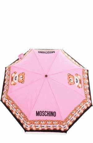 Складной зонт Moschino. Цвет: розовый