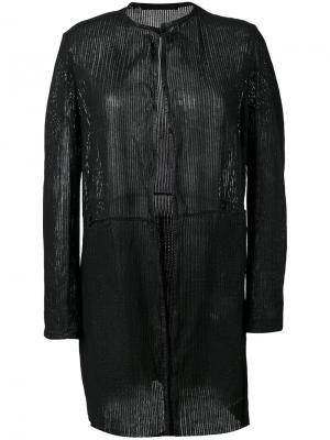 Открытый кардиган-пальто Salvatore Santoro. Цвет: чёрный