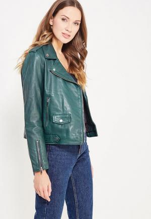 Куртка кожаная Cortefiel. Цвет: зеленый