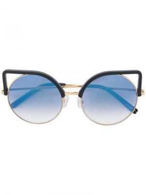 Солнцезащитные очки с оправой кошачий глаз Matthew Williamson. Цвет: чёрный