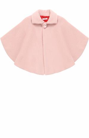 Шерстяное пончо I Pinco Pallino. Цвет: розовый