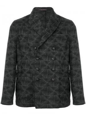 Двубортный пиджак с вышивкой Ziggy The Gigi. Цвет: серый