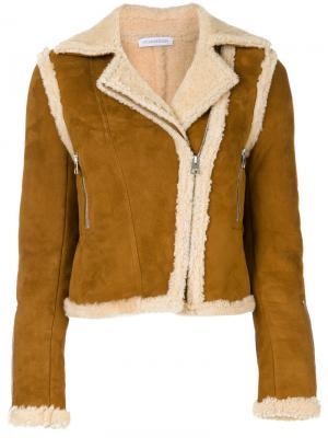 Укороченная куртка JW Anderson. Цвет: коричневый