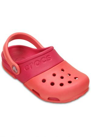 Сабо Crocs. Цвет: коралловый, малиновый