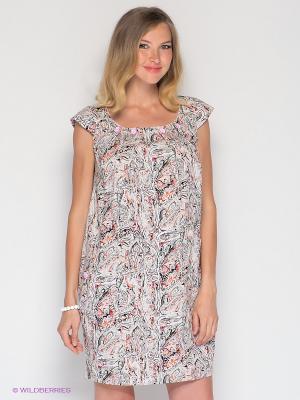Платье UNIOSTAR. Цвет: красный, розовый