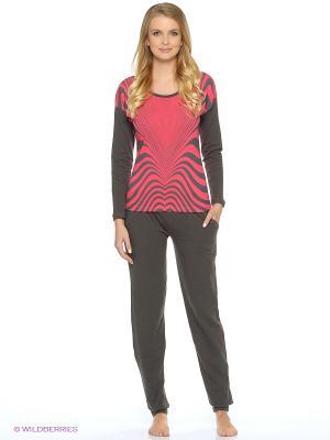 Пижама NICOLETTA. Цвет: малиновый, черный