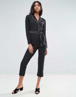 Unique 21 Пижама-комбинезон Unique21. Цвет: черный