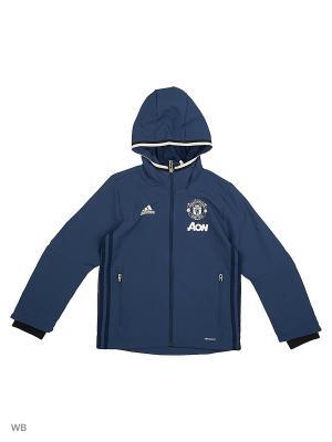 Толстовка Manchester United FC Presentation Jacket Adidas. Цвет: синий, белый