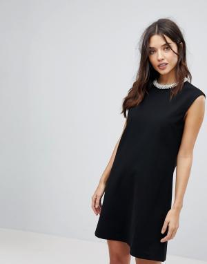 Forever Unique Платье мини. Цвет: черный
