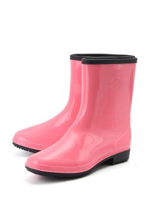 Резиновые сапоги Берёза. Цвет: розовый