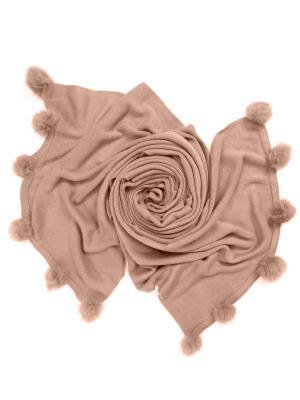 Платок женский, размер 190x60 см Charmante. Цвет: светло-коричневый