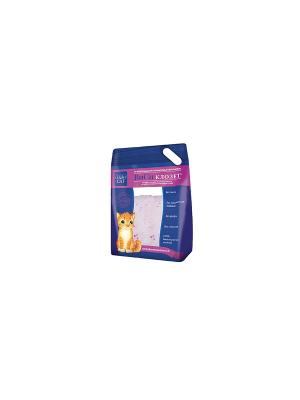 Наполнитель ВиСи Клозет, силикагель антибактериальный. 3,8 л. Клозет. Цвет: светло-коралловый