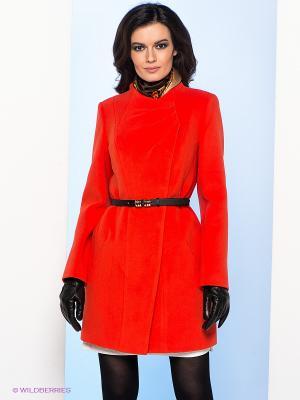 Пальто Electrastyle. Цвет: оранжевый