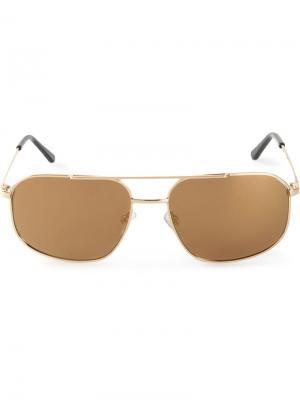 Солнцезащитные очки-авиаторы Pop Selima Optique. Цвет: металлический