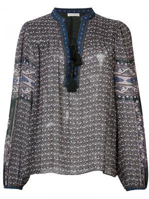 Блузка с длинными рукавами Ulla Johnson. Цвет: синий