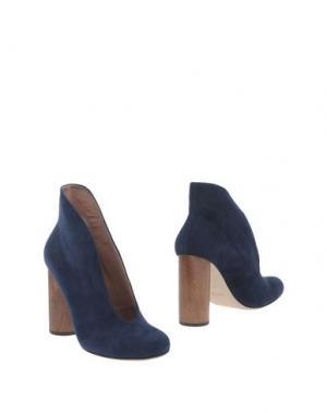 Полусапоги и высокие ботинки ANTONIO BARBATO. Цвет: темно-синий