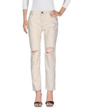 Джинсовые брюки ONE x ONETEASPOON. Цвет: бежевый