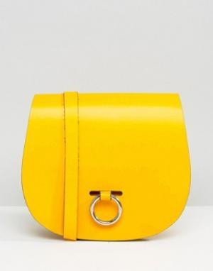 Leather Satchel Company Сумка с застежкой-кольцом. Цвет: зеленый