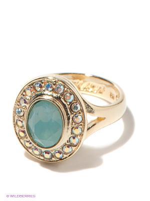Кольцо Jenavi. Цвет: зеленый, золотистый, розовый