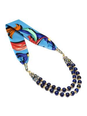 Ожерелье FOXTROT. Цвет: темно-синий