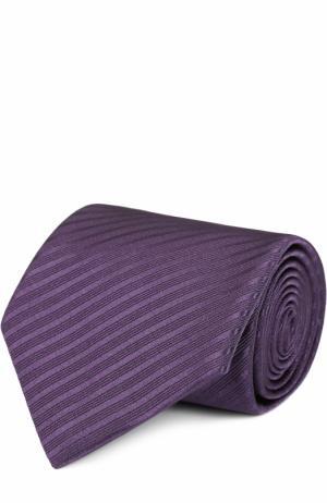 Шелковый галстук в полоску Pal Zileri. Цвет: фиолетовый