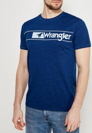 Футболка Wrangler. Цвет: синий