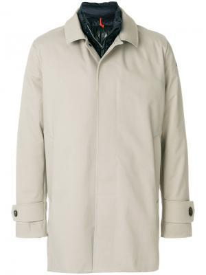 Пальто с потайной застежкой Rrd. Цвет: телесный