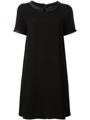 Платье с короткими рукавами Cotélac. Цвет: чёрный