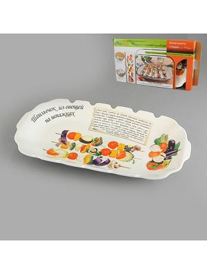 Блюдо для шашлыка ШАШЛЫЧОК ИЗ ОВОЩЕЙ НА ШПАЖКАХ LARANGE. Цвет: белый
