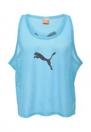 Майка спортивная Puma. Цвет: голубой