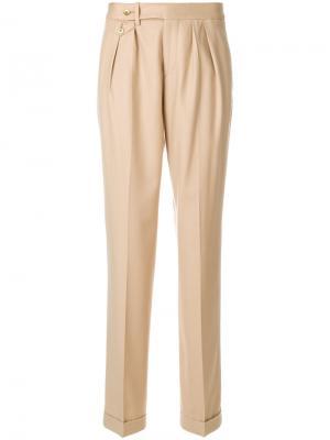 Строгие брюки со складками Pt01. Цвет: коричневый