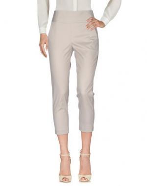 Повседневные брюки MIA SULIMAN. Цвет: светло-серый