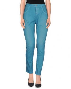 Повседневные брюки MANILA GRACE. Цвет: бирюзовый