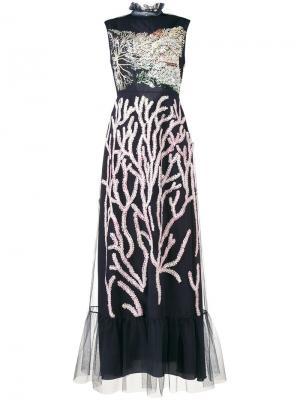 Платье с вышивкой emma Alice Archer. Цвет: синий