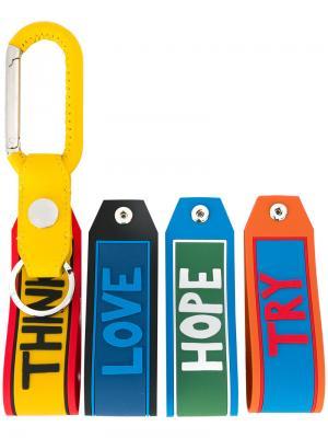 Набор брелков дизайна колор-блок Fendi. Цвет: многоцветный